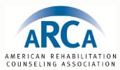 Logo for ARCA - American Rehabilitation Counseling Association